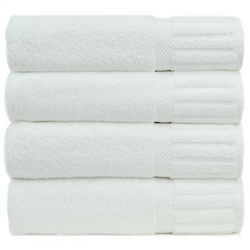 Chakir Turkish Linens Luxury Hotel & Spa Turkish Cotton Piano (White, Bath Towel-Set of 4), 4 Count