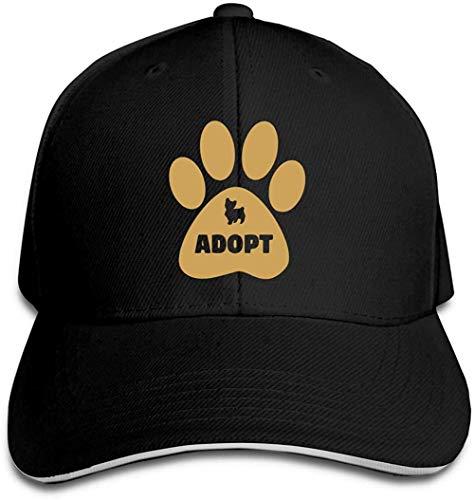 ZYZYY - Berretto da baseball unisex Don T Shop adotta cane, con visiera regolabile