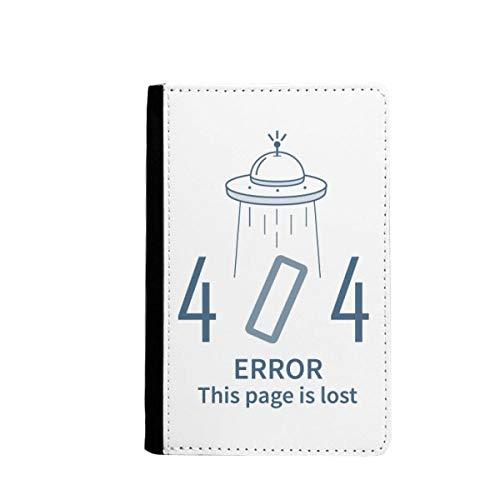 Programmer 404 Fout niet gevonden paspoort houder Travel Wallet Cover Case Card portemonnee