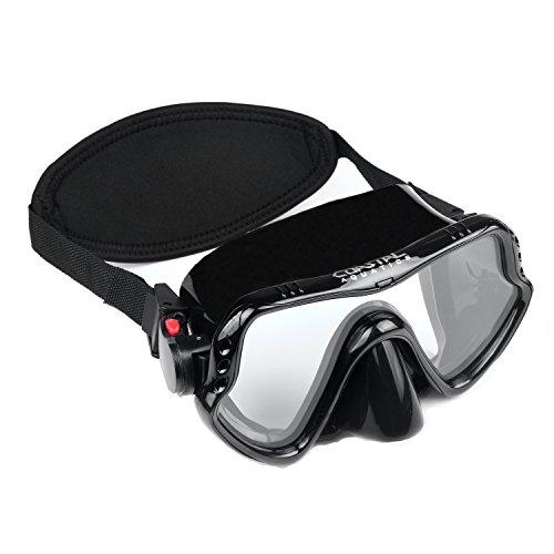 Coastal Aquatics Adult Snorkel Mask Diving Mask Scuba Mask Anti-Fog Lens Neoprene Strap Cover Tempered Glass