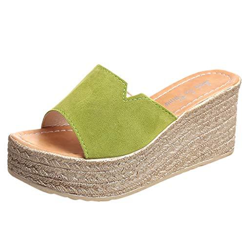 sandali estive a zeppa alta scarpe donna espadrillas tacco plateau alto comodo