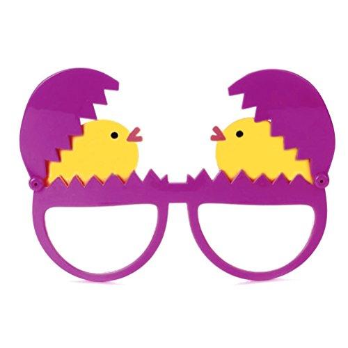 Amosfun Gafas Pascua Divertidas Gafas Huevo Decoraciones Pascua Disfraz (Rosa)