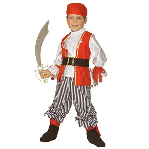Amakando Disfraz infantil de pirata de 110 cm, disfraz de pirata para nios