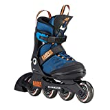 K2 Jungen Inline Skates RAIDER PRO - Schwarz-Blau-Orange - L (35-40 EU; 3-7 UK; 4-8 US) -...