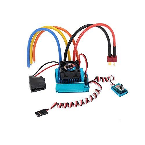 120A Sensored Brushless Speed Controller Regler Drehzahlregler ESC für 1/8 1/10 1/12 Car Crawler