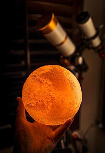 Mars Lamp 3D Night Light USB Charging for Gift Kids - 8' (20cm)