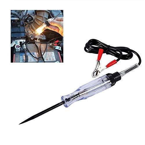 Auto 6V 12V 24V DC Car Truck Voltage Circuit Tester Auto Test VoltMet Long Probe Pen Light Bulb Tester di Circuito Elettrico per Auto Sonda Misuratrice
