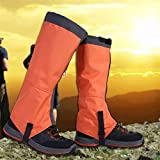 10Dare Gaiters for Snow, Tropical Forests,Outdoors | Water/Snow/Bite Resistant (Orange, Large)