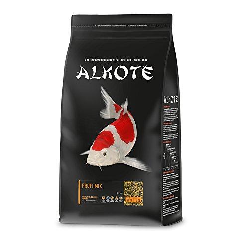 AL-KO-TE, 3-Jahreszeitenfutter für Kois, Frühjahr bis Herbst, Schwimmende Pellets, 3 mm, Hauptfutter Profi Mix, 3 kg