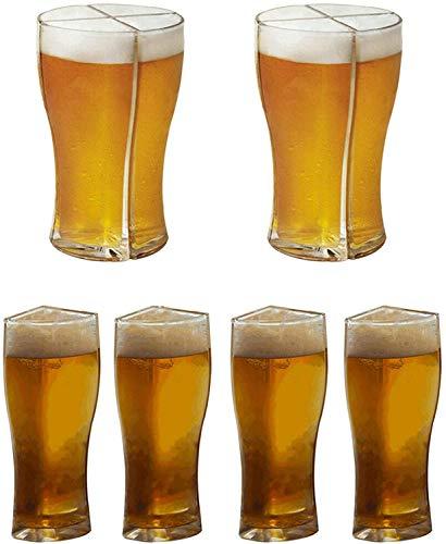 AbbyNi 4 in 1 Boccali di Birra Acrilici, Bicchiere da Birra Super Schooner, Friends Party Drink Beer Mug Bicchieri da Birra Set 4 per Festa, Festa della Birra, Compleanno (2L)