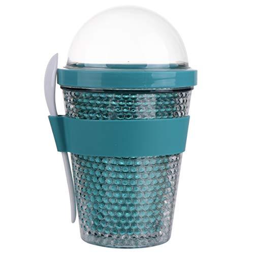 Cabilock Vasos de Plástico con Tapas de Cúpula Taza de Yogur de...