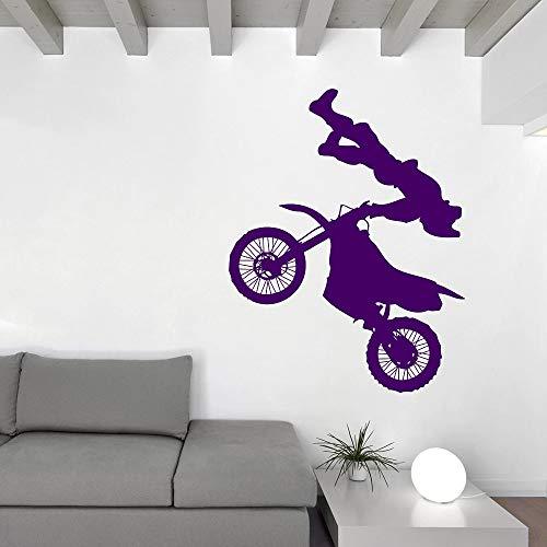 Tianpengyuanshuai Motocross Stunt Performer vinyl sticker wandsticker motorfiets racen moderne huishoudtextiel lijm