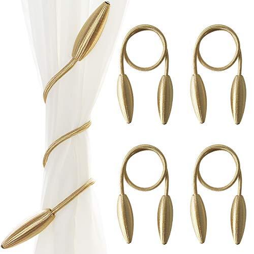 Flagsky Raffhalter für Vorhänge, kreativ, für Fenster, im europäischen Stil, maßgefertigt, dekorative Vorhänge, Raffhalter, goldfarben, 4 Stück