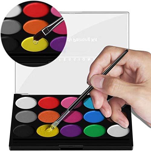 XPASSION Kit de Pintura Facial. Set de Maquillaje, Pinturas Corporales, Pintura Cara...