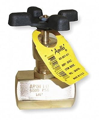 "Apollo FNPT Globe Valve, Brass, 1/2"" Pipe Size - 6090301 by CAI - APOLLO"
