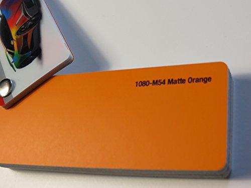 3M (28,19€/m2) Scotchprint Wrap Film Series 1080 Matt Orange gegossene Autofolie 100 x 152 cm Zuschnitt