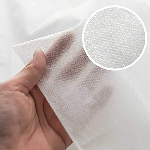 """40"""" Wide by The Yard Spunbond Breathable Anti Splash Resistant Non-Fusible Nonwoven Interfacing 60g/m², Non-Woven Fabric, Width 100cm, Polypropylene 100% Air Filter Made in Korea (1 Yard)"""