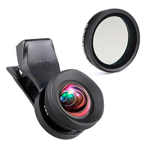 SIRUI 18-WA2+18-WA2-CPL Weitwinkel-Vorsatzobjektiv 18mm mit Polfilter für Smartphones