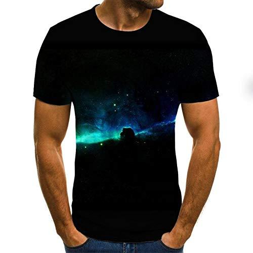 Schitterende Melkweg Cool Unisex T Shirt Zomer 3D Gedrukt Korte Mouw Heren Trend Grappige Jongens Mannen Blouse