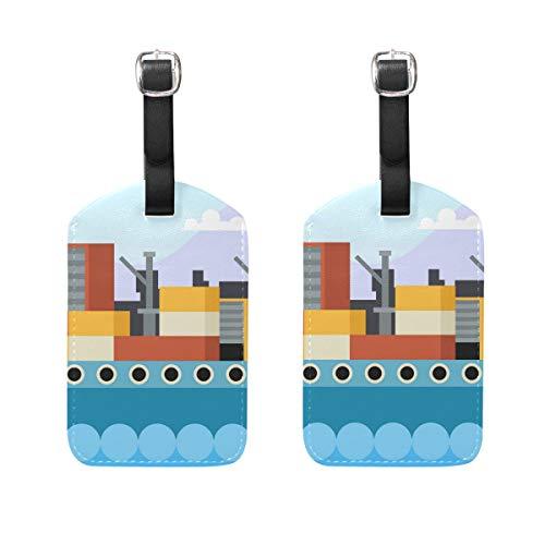 FANTAZIO Etiquetas de Viaje para Equipaje Crucero Barco x2