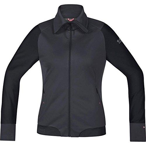 Gore Bike WEAR Damen Warme Soft Shell Mountainbike-Jacke, Stretch, Gore Windstopper, Power-Trail Lady WS SO Jacket, Größe: 36, Braun/Schwarz, JWSFLO