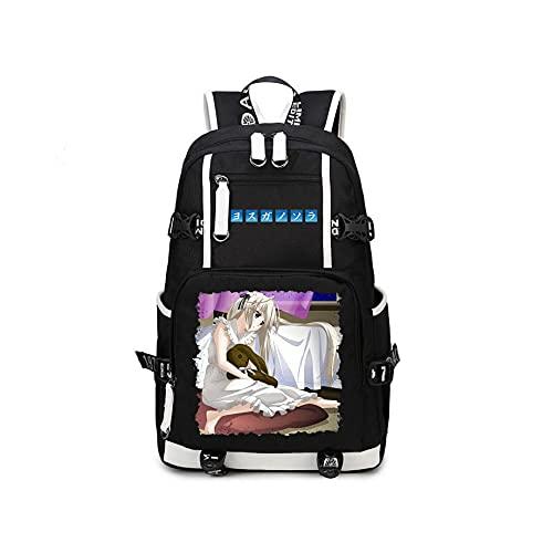 Anime Yosuga No Sora USB Backpack Mochilas Escolares Mochila Hombres Mujeres Viajes Laptop Bolsas De Hombro Regalo Negro