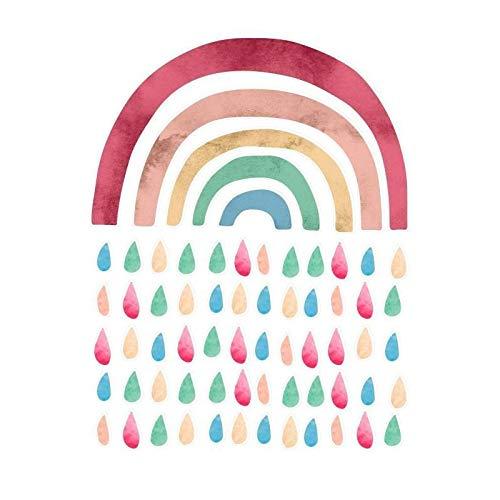 Naf Naf Stickers Rainbow Décoration Chambre Bébé 40x30 cm