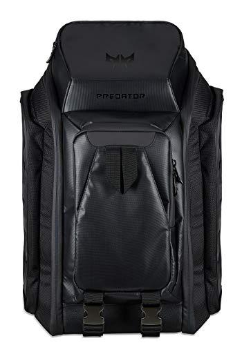 Predator Gaming M-Utility Rucksack (geeignet für bis zu 17,3 Zoll Notebooks, Zusatzfächer, gepolstert, wasserabweisend, das ganze Equipment in einer Tasche) schwarz