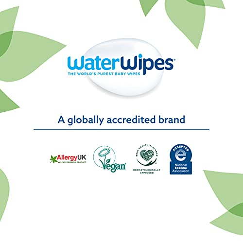 WaterWipes Baby Wipes 12x60 Pack Sensitive Newborn Biodegradable Unscented, 99.9% water (720 Wet Wipes)