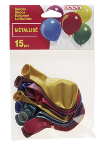 Cofalu Kim'Play - Décoration de table - 15 Ballons à Gonfler Assortis Metalise Assortis