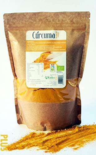 Curcuma Cruda en polvo BeNatur Plus - 100% Curcuma Longa en polvo de Pureza Garantizada Libre de Pesticidas y de cualquier tipo de productos Quimicos nocivos 500 g