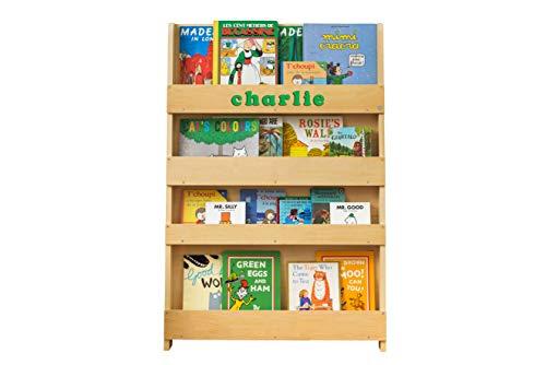 Tidy Books ® Bücherregal Kinder, Natur, Personalisierte Geschenke, Bücherregal Kinderzimmer mit Holzbuchstaben, Montessori Material Kinderregal, 115x77x7cm, Handgefertigt, Das Original seit 2004