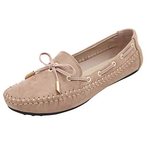 Ansenesna Schuhe Damen Flach Wildleder Elegant Schuhe Frauen Vintage Casual Mokassins