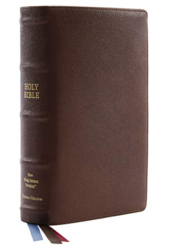 Compare Textbook Prices for NKJV, Single-Column Reference Bible, Premium Goatskin Leather, Brown, Premier Collection, Comfort Print: Holy Bible, New King James Version  ISBN 9780785231240 by Thomas Nelson