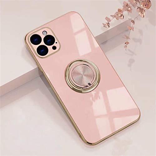 Jacyren Hülle für iPhone 12 Pro Handyhülle, iPhone 12 Pro Schutzhülle Case Ultradünnes magnetische KFZ-Halterung mit 360-Grad Finger-Halter Schale für iPhone 12 Pro (iPhone 12 Pro 6.1Zoll, Milchtee)