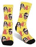 Zhovee Calcetines personalizados para parejas, calcetines personalizados para el día de San Valentín, calcetines con imagen para hombres y mujeres