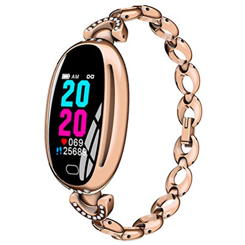 HJKPM Smartwatch, EKG Ladies Sports Smart Watch Mit Allwetter-ECG PPG HRV-Überwachungsfunktion Zum Verhindern Der Virusinfektion Und Verbesserung des Temperaments,Gold
