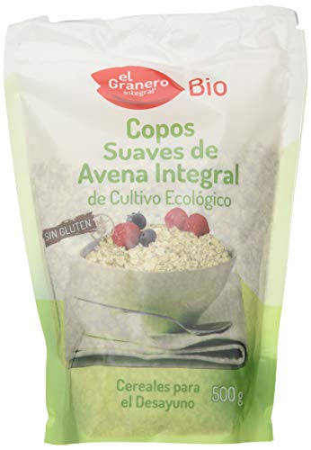 Granero Copos Suaves De Avena Integral Sin Gluten Bio 500 Bolsa 500 Gramos 500 ml