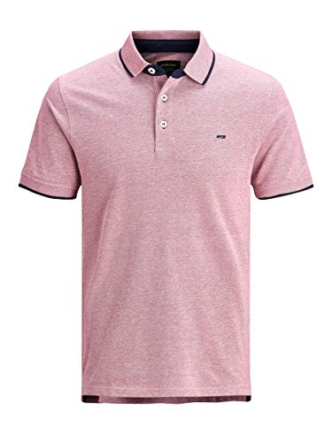 Jack & Jones Jjepaulos Polo SS Noos, Rojo (Brick Red Detail: Slim Fit), Medium para Hombre