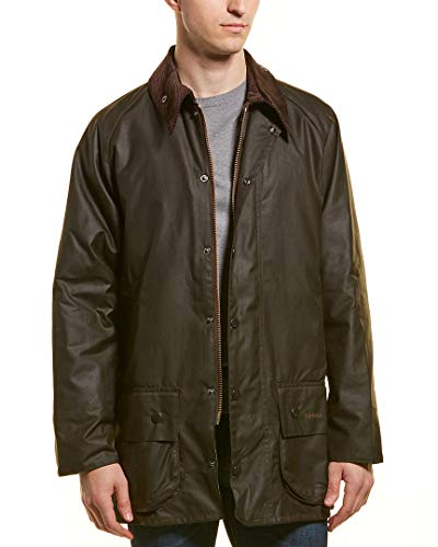 Barbour Mens Classic Beaufort Wax Jacket, 44, Green