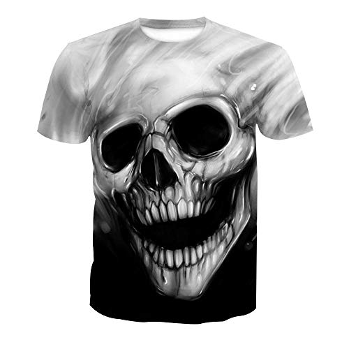 U/A 3D Digital Printing Palm Short Sleeve T-Shirt for Men