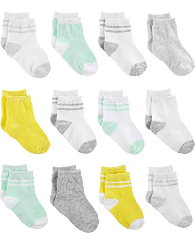 Simple Joys by Carter's Baby Socken, 12 Stück ,Yellow/Grey/Mint ,3-12 Months