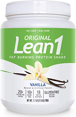 Nutrition 53 Lean 1 Fat Burning Protein Shake, Vanilla Flavor, 15 Serving Tub