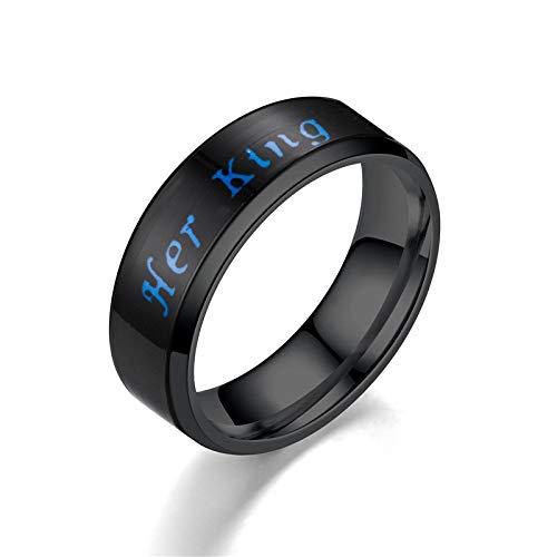 ZYJ Intelligente Temperaturfühler Paar Ringe, Stimmung wechselnde Smart Ring, smart emotionales Gefühl (5-12),A,7