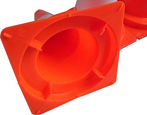 UvV-Shop (ES-Team Consult GmbH) Pylon 4 Stück Set zur Markierung für Slalom, Tore, Haushalt oder Spiel in 20 oder 30 cm Höhe aus weichem Kunststoff orange (30 cm Pylon)