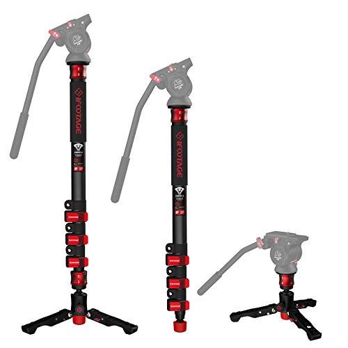 IFootage Kamerastative Hoch,Einbeinstativ für Kameras,C150 Video Einbeinstativ mit Füßen, Kompatibel für DSLR Kameras & Camcorde 150cm