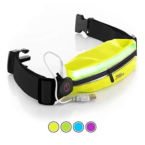Cintura Uomo e Donna da Corsa – Marsupio Running Porta Cellulare per iPhone X 7 8 Plus – Portacellulare per Correre di Alta qualità – Accessori Running per Donna – Uomo e Bambini (Giallo Nero LED)