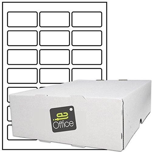 TE-Office 10500 Stück Haftetiketten Klebeetiketten Versandetiketten auf A4 Bogen weiß matt 60 x 30 mm Laser Inkjet