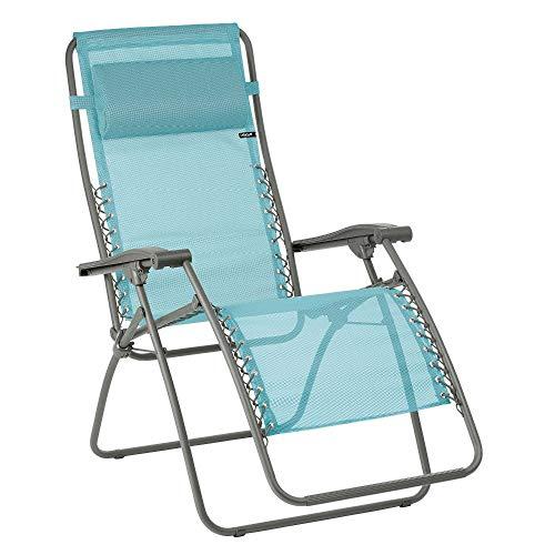 Lafuma Relax-Liegestuhl, Klappbar und verstellbar, Mit Schnürsystem, RSXA, Batyline, Lac