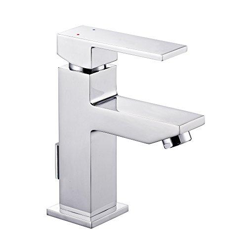 Wasserhahn Bad Waschbecken Armatur Badarmatur Waschtischarmatur Waschbeckenarmatur Einhebelmischer Mischbatterie mit Ablaufgarnitur
